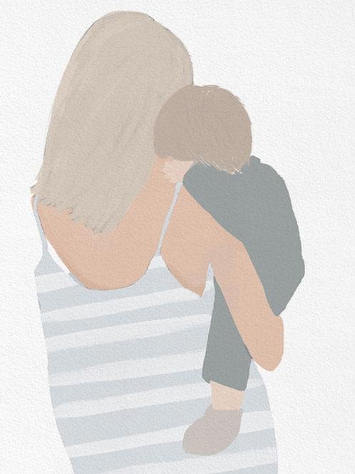 """Ilustração """"Motherhood Summer Dress"""""""