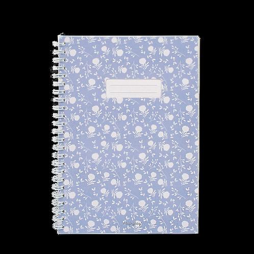 Caderno com janela Azul