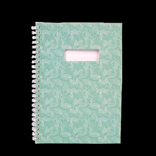 Caderno com janela Verde