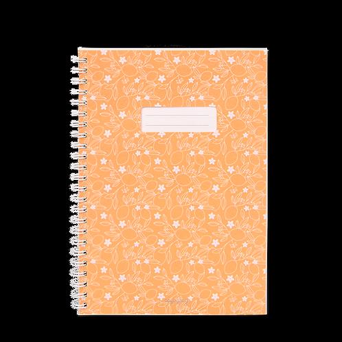 Caderno com janela Amarelo