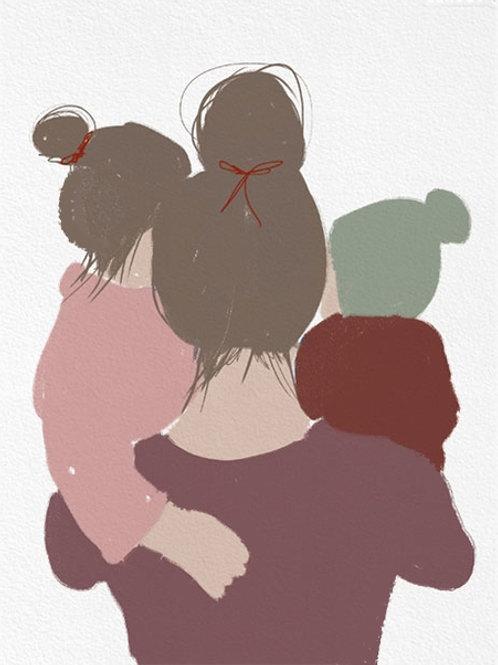 "Ilustração ""Motherhood Green"""