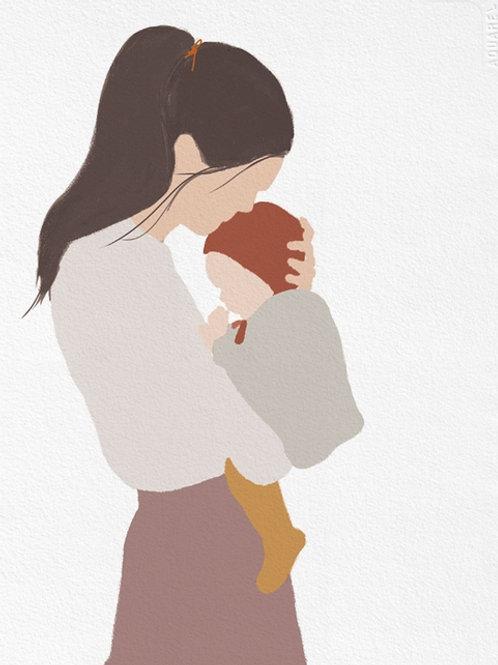 "Ilustração ""Motherhood Baby"""