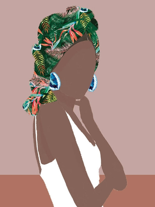 """Ilustração """"Terracota Tropical"""""""