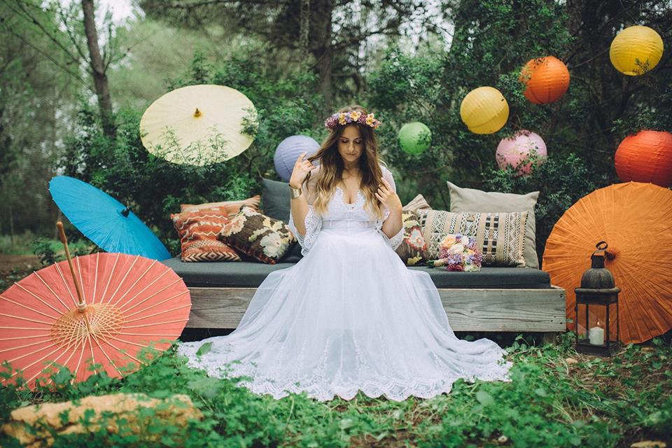 Bohemian Rainbow Boho Wedding