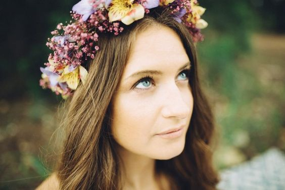 Bridal flower head dress