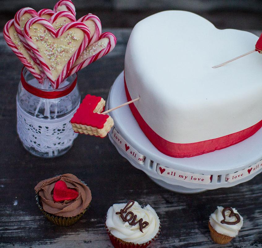 Triple Choc Love heart Cake