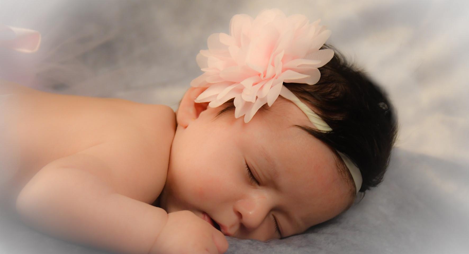 petite fleur endormie