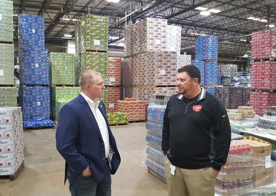 Delegate Mike Webert (R-Fauquier) Visits Pepsi Bottling Warrenton