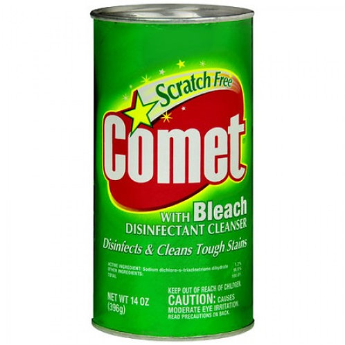 COMET WITH BLEACH CLEANSER