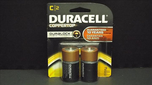 DURACELL COPPERTOP C-2PK BATTERY