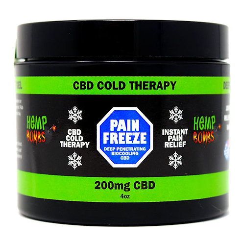 CBD- HEMP BOMBS PAIN FREEZE RUB GEL