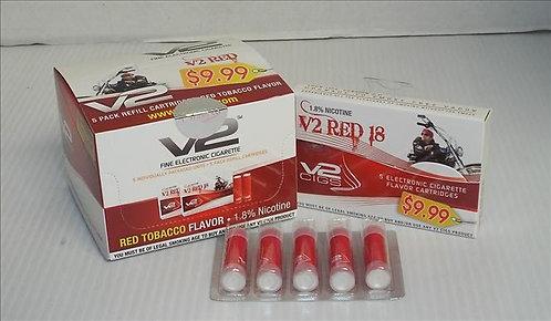 V2 $9.99 RED PP E-CIG.CARTRIDGES OR MENTHOL