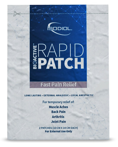 ISODIOL RAPID CBD PATCH FOR FAST PAIN RELIEF