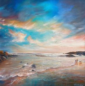 JW09 - %22Gunwalloe Beach, Cornwall%22
