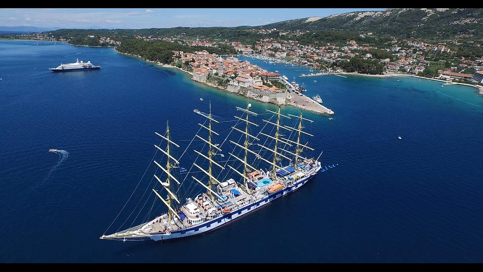 Otok Rab jedrenjak