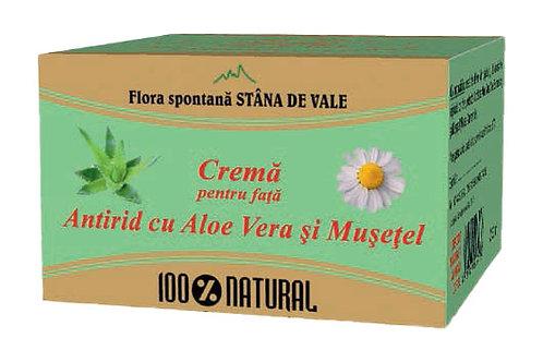 Cremă pentru față Antirid cu Aloe vera și Mușețel 100gr