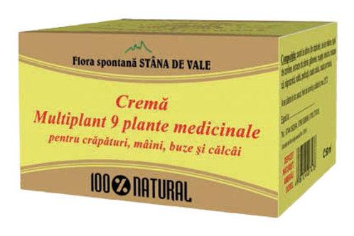 Cremă Multiplant,9 plante medicinale pentru crăpături,mâini,bule și călcâie 100g