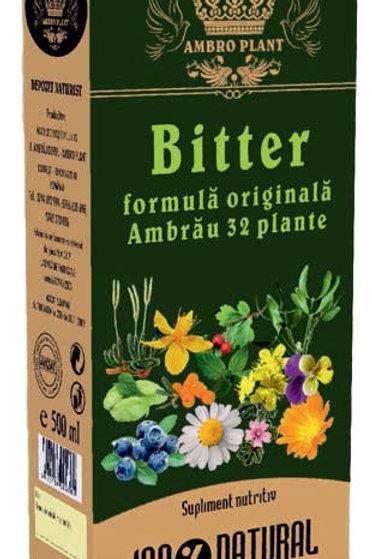 Bitter- formulă originală Ambrău 32 plante 500ml