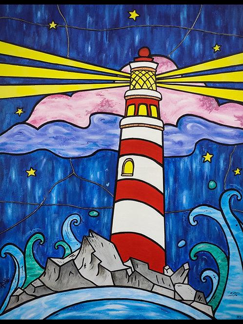 La La Lighthouse | 2ft x 2.5ft | Acrylic on Canvas