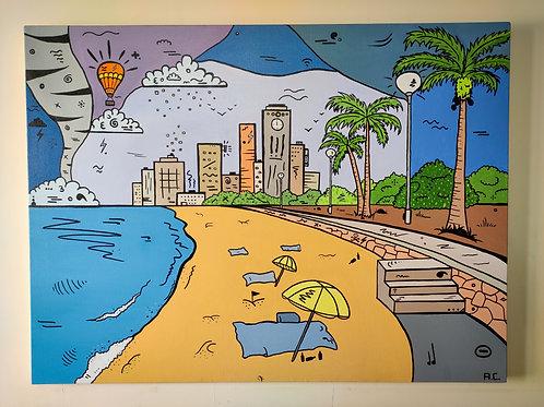 """Mondaze   40"""" x 30""""   Acrylic on Canvas"""