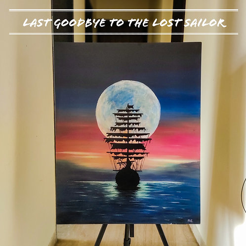 Last Goodbye to the Lost Sailor | 2ft x 2.5ft