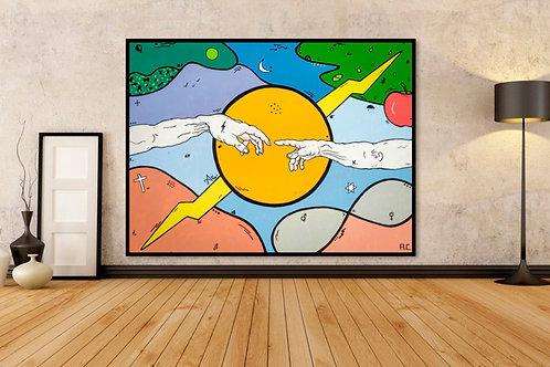 Creation of Adam | 4ft x 3ft | Acrylic on Canvas