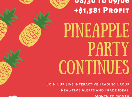Pineapple Party Continues, Recap 08/30/2019 to 09/06/2019