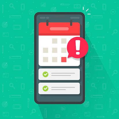 mobile-phone-calendar-with-important-dea