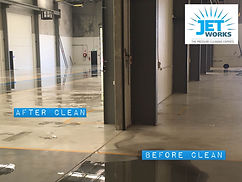 Warehouse high pressure cleaning Brisbane before and after pictures