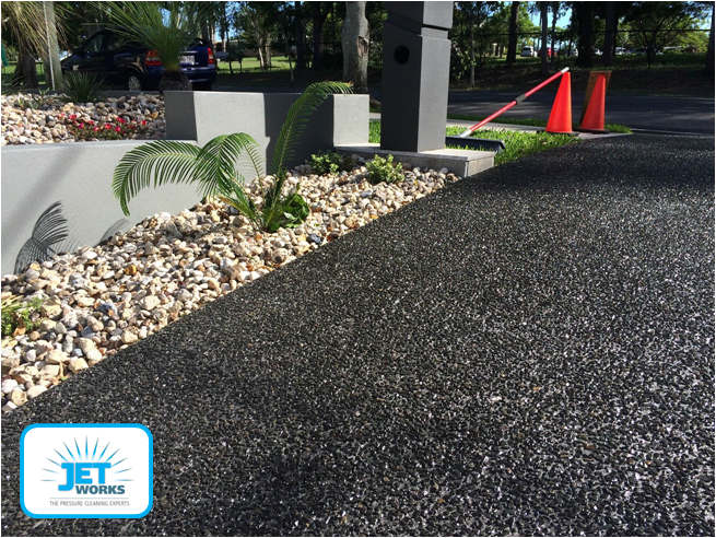 Jet Works specializes in high pressure cleaning and then sealing of your driveway to enhance ance protect your investment for years to come.