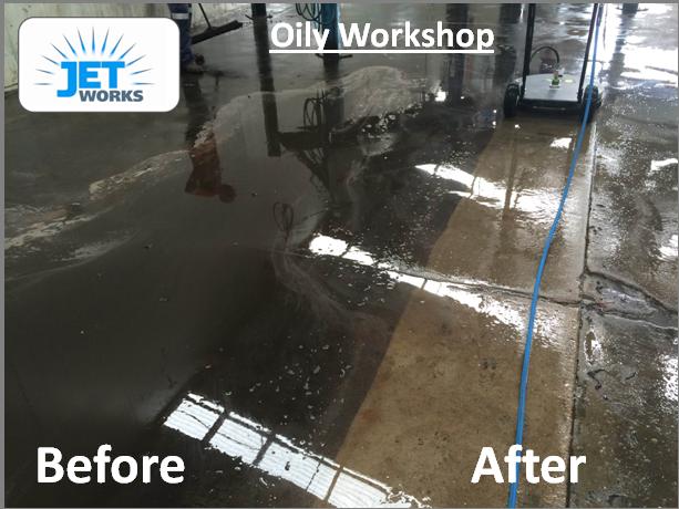 Workshop Warehouse high pressure cleaning Brisbane
