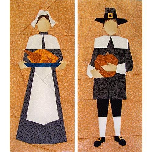 Pilgrims Paper-pieced Quilt Pattern by Paper Panache