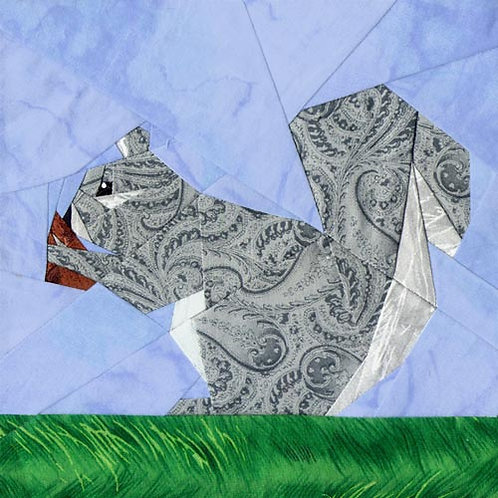 Squirrelly Paper-pieced Quilt Pattern by Paper Panache