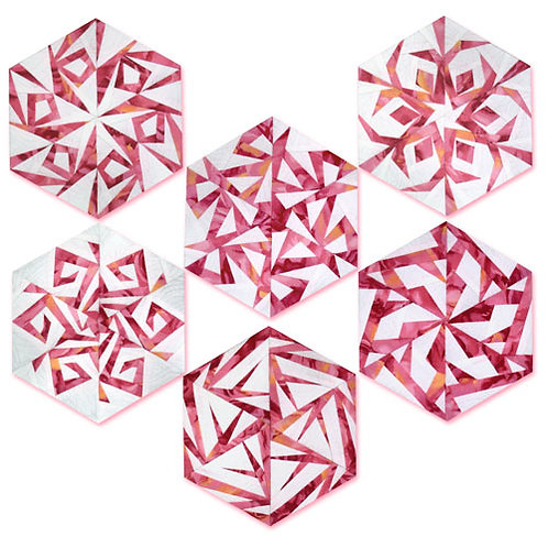 Paper Snowflakes Paper-pieced Quilt Pattern by Paper Panache