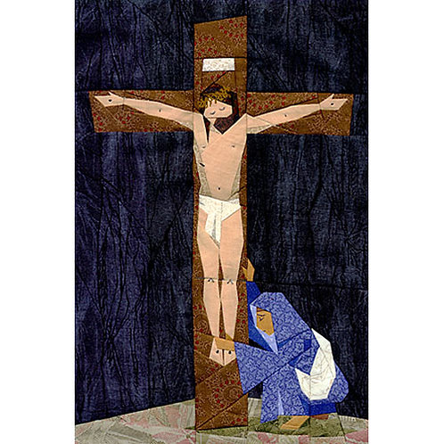 Good Friday Paper-pieced Quilt Pattern by Paper Panache (Jesus on the cross)