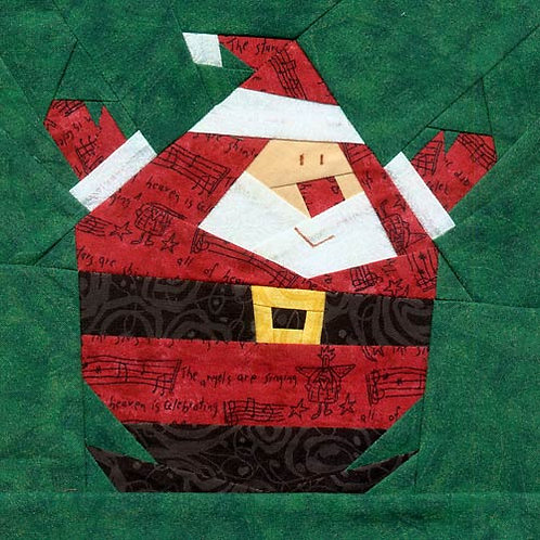 Roly Poly Santa Paper-pieced Quilt Pattern by Paper Panache