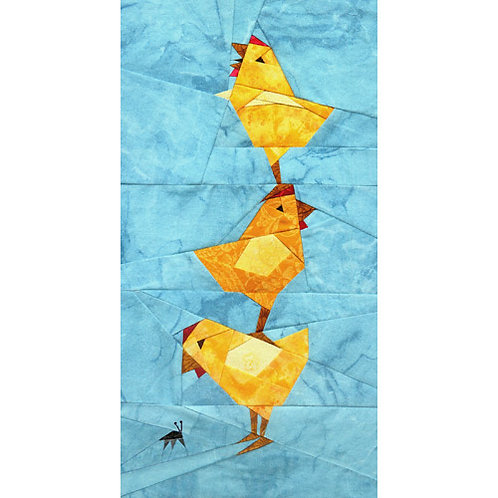 Chicken Stack Paper-pieced Quilt Pattern by Paper Panache