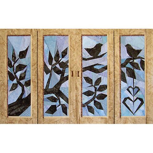 Two Birdies Paper-pieced Quilt Pattern by Paper Panache