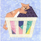 Sweet Kitty Dreams Paper-pieced Quilt Pattern by Paper Panache