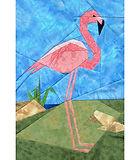Flamingo Paper-pieced Quilt Pattern by Paper Panache
