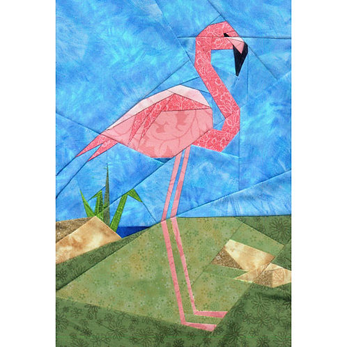 Flamingo Paper-pieced Quilt Pattern by Paper Panache