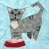 Hungry Kitty Paper-pieced Quilt Pattern by Paper Panache
