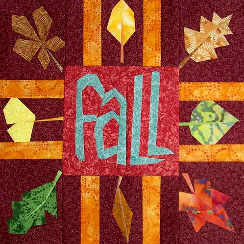 Fall Banner Paper-pieced Quilt Pattern by Paper Panache