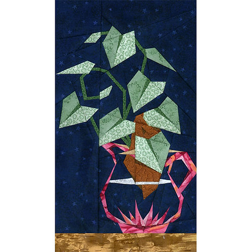 Sweet Potato Vine Paper-pieced Quilt Pattern by Paper Panache