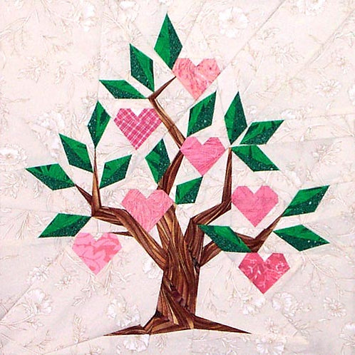 Family Tree Paper-pieced Quilt Pattern by Paper Panache