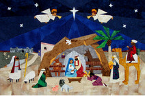 Advent Nativity paper-pieced Quilt Pattern by Paper Panache