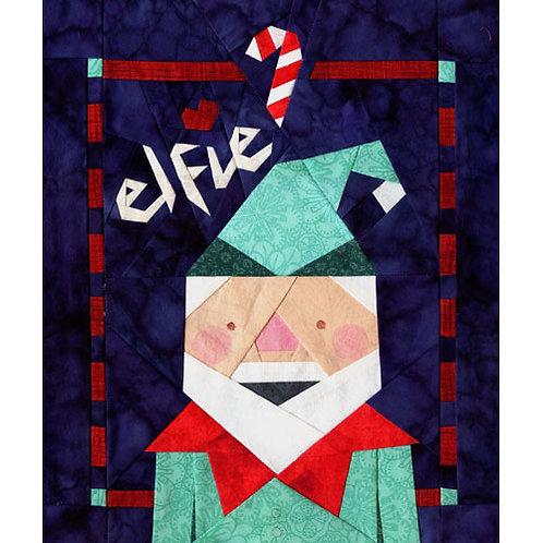 Elfie's Christmas Card Paper-pieced Quilt Pattern by Paper Panache