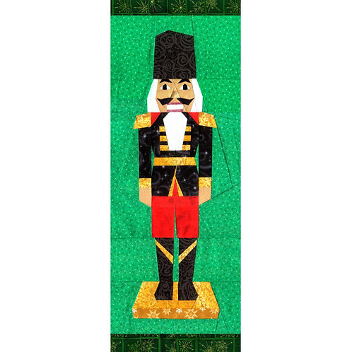 Christmas Nutcracker Paper-pieced Quilt Pattern by Paper Panache