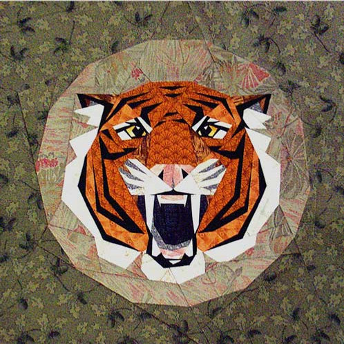 Tiger Paper-pieced Quilt Pattern by Paper Panache