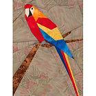 Parrot Paper-pieced Quilt Pattern by Paper Panache